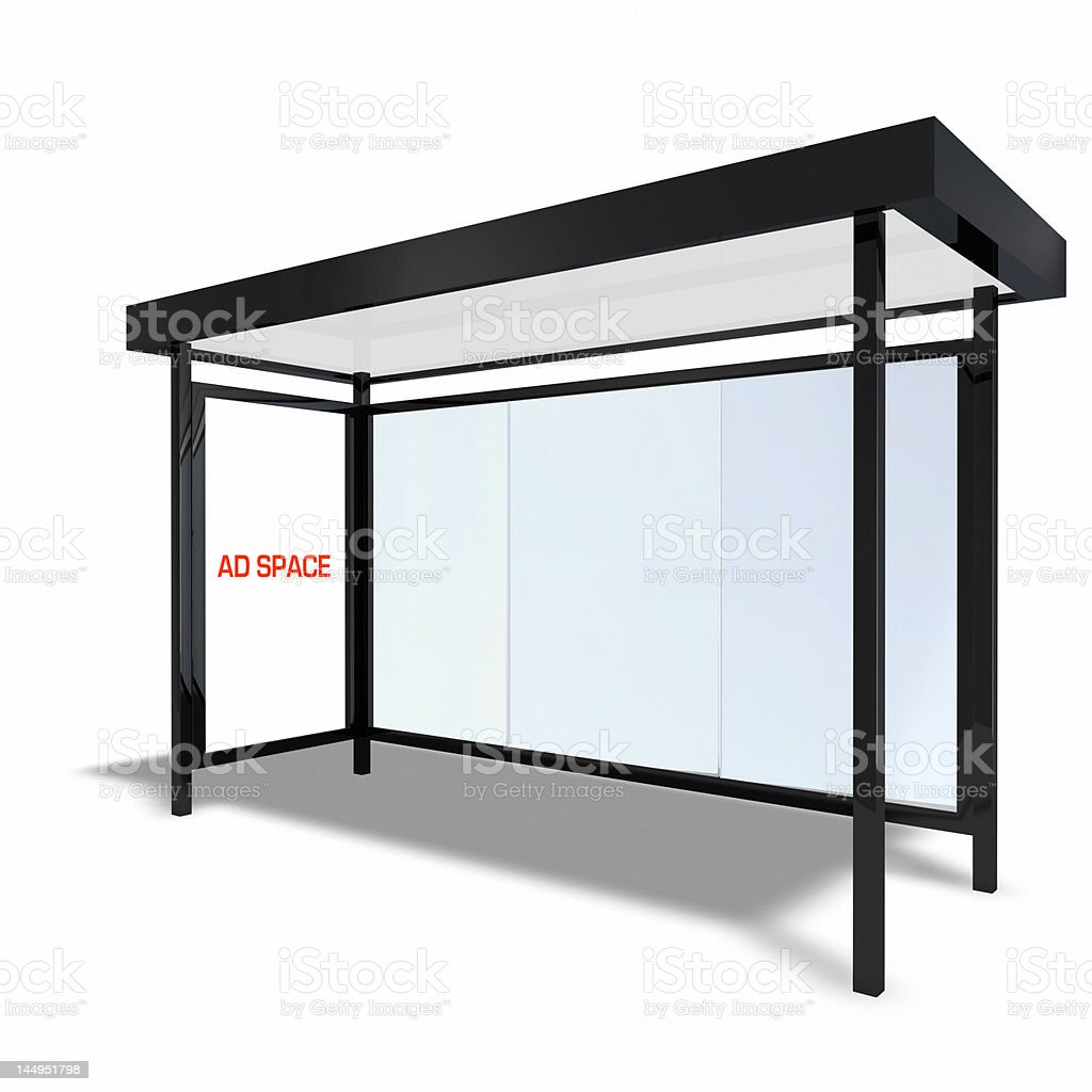 New York Style Bus Shelter Front royalty-free stock photo