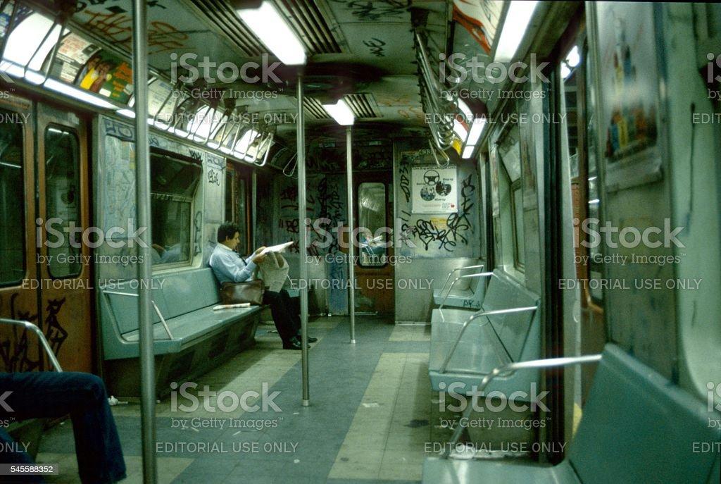 New York Subway, 1979 stock photo