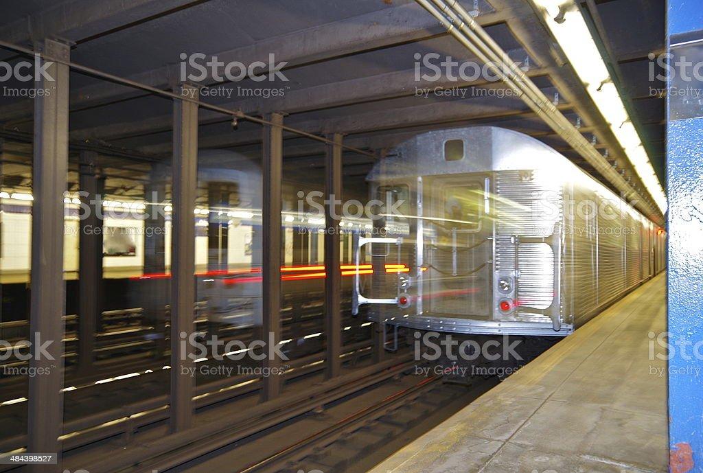 New York subway 2 stock photo