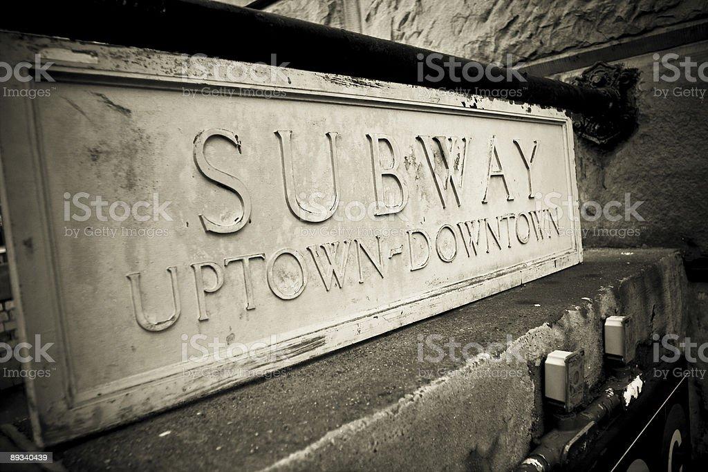 New york Subway royalty-free stock photo