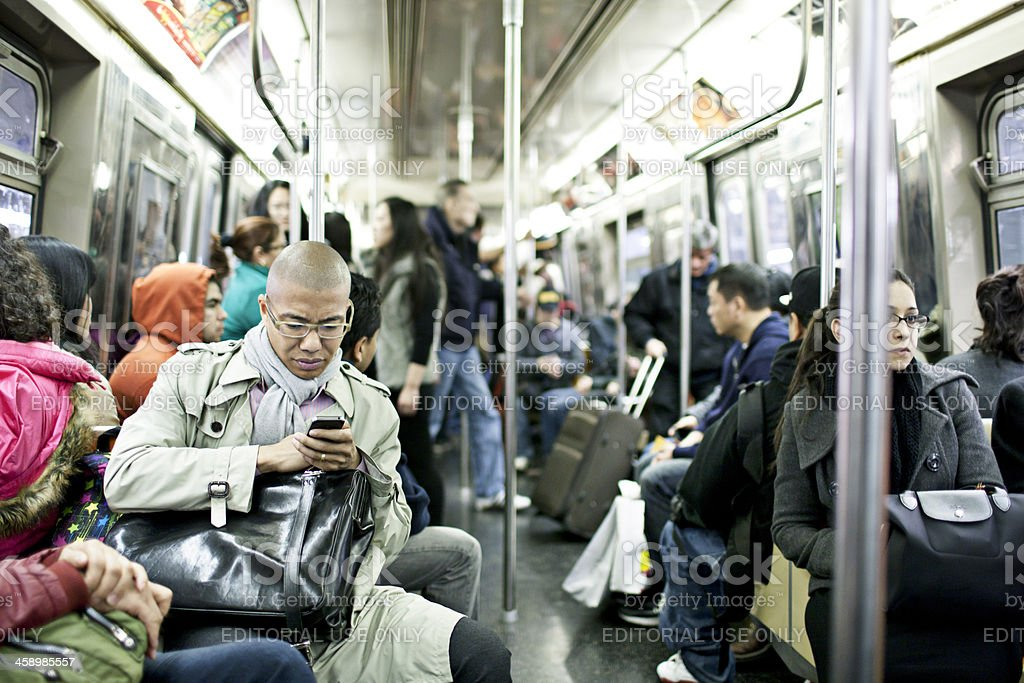 New York Subway Train stock photo