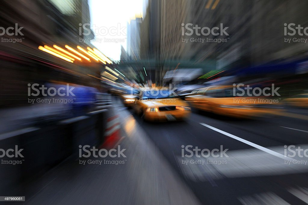 New York Taxis, New York, USA royalty-free stock photo