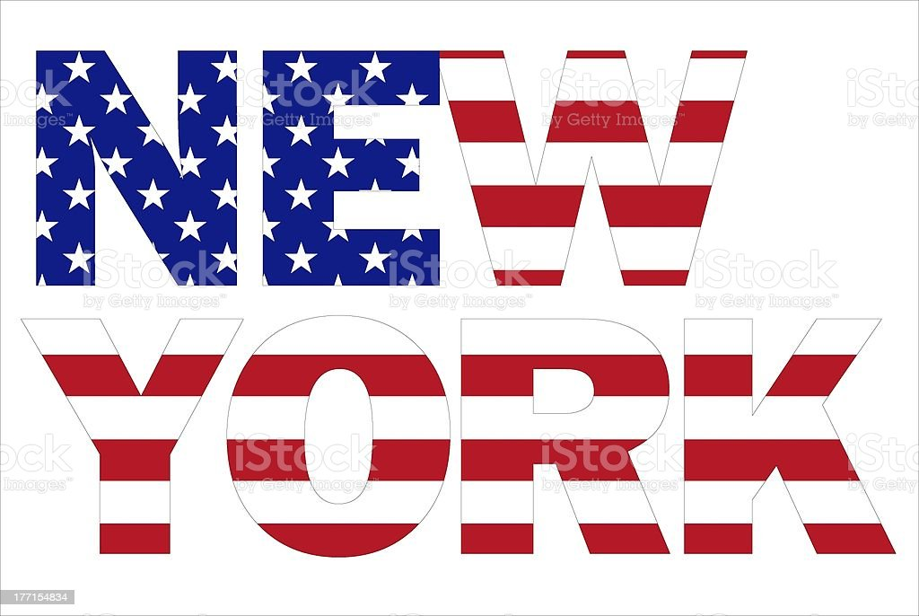 New York text royalty-free stock photo