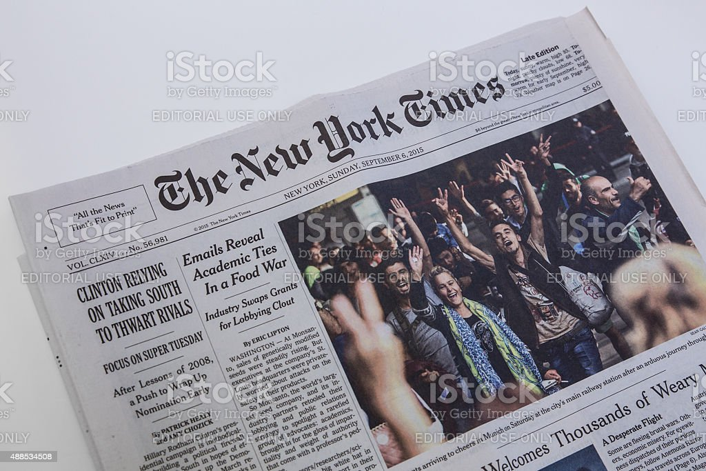 New York Times Newspaper stock photo