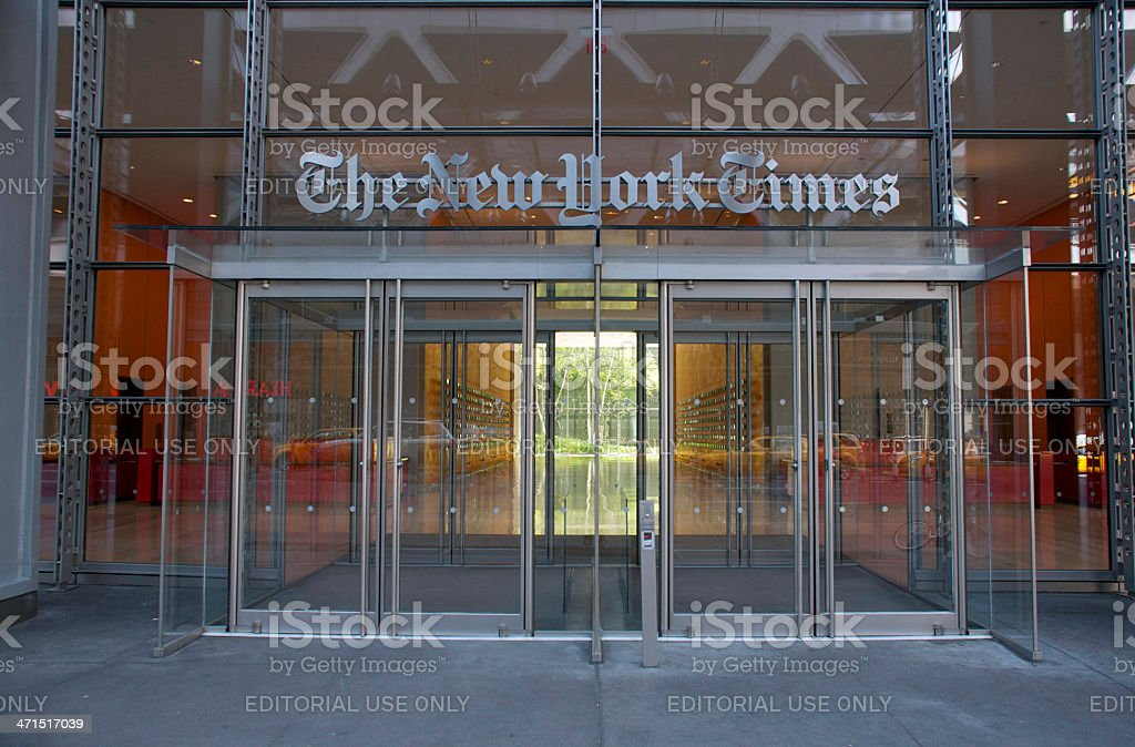 New York Times royalty-free stock photo