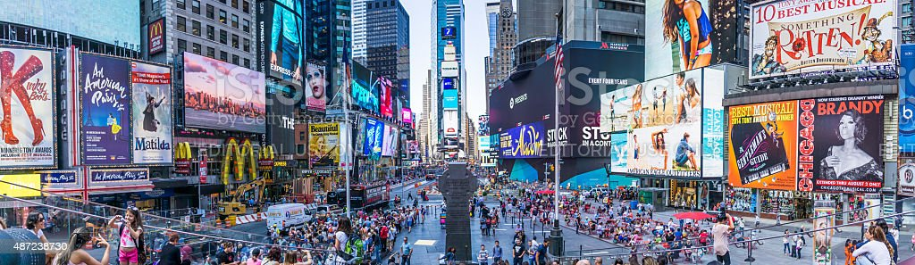 New York Times Square Panoramic stock photo