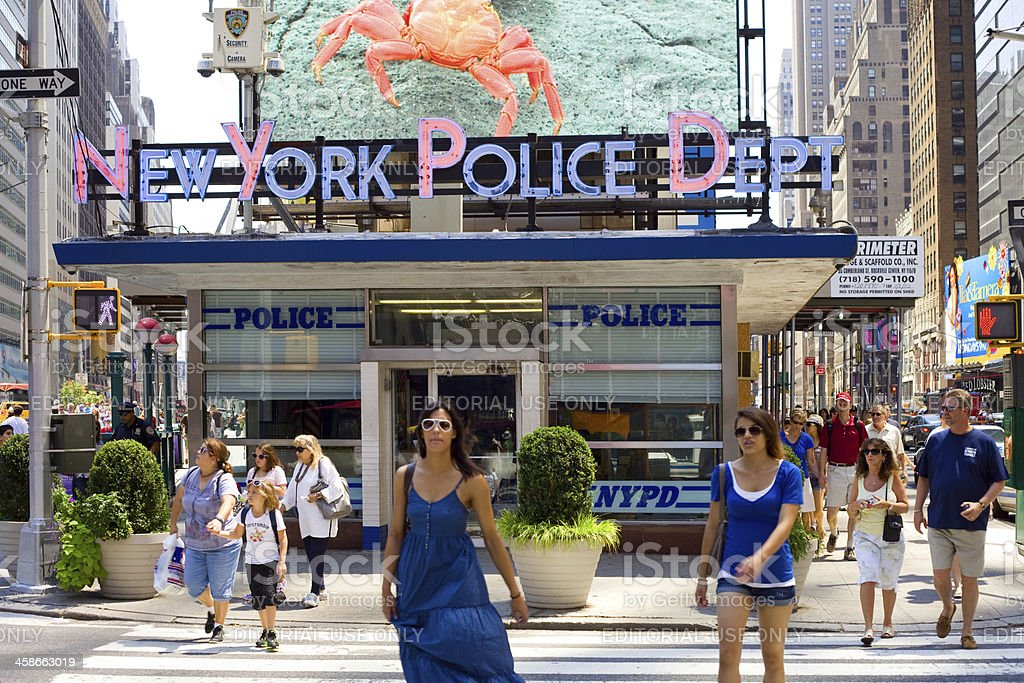 New York Times Square Police Department royalty-free stock photo