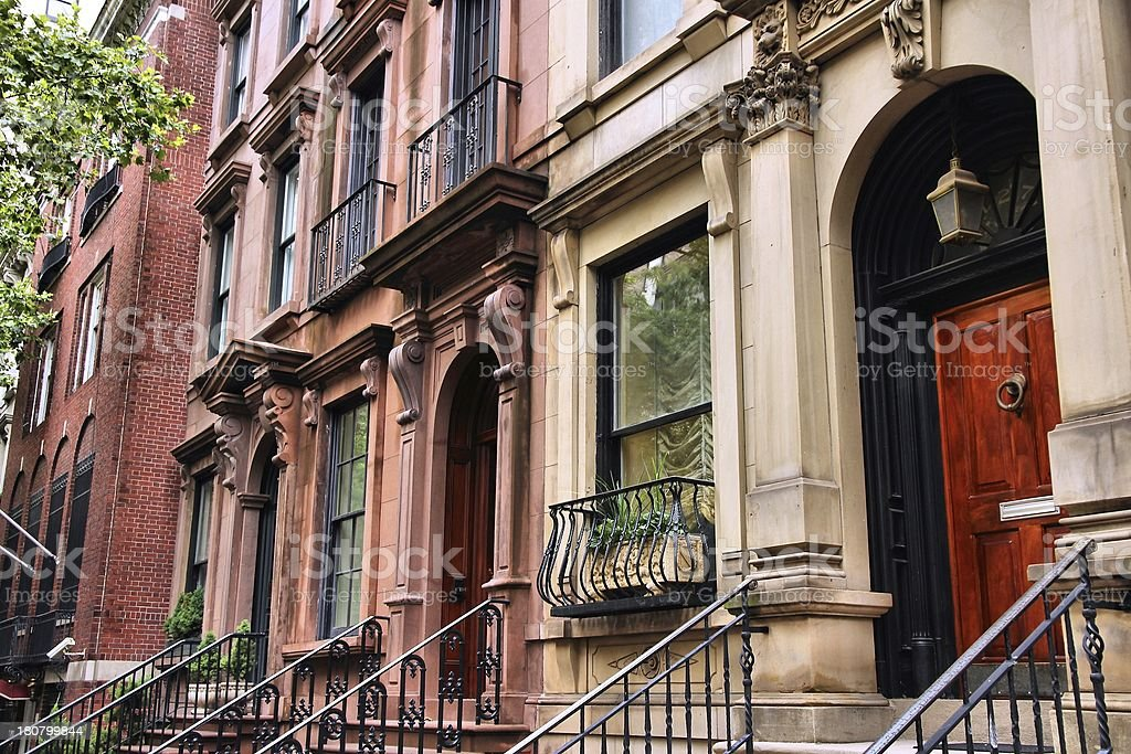 New York townhouse stock photo