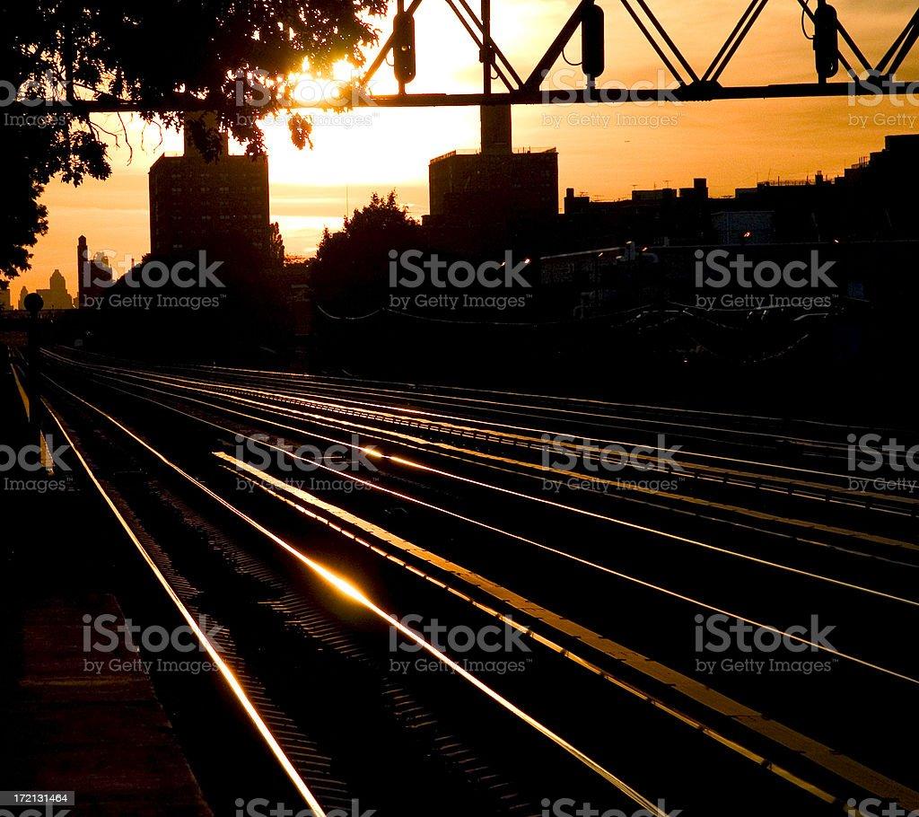 New York Train Tracks stock photo