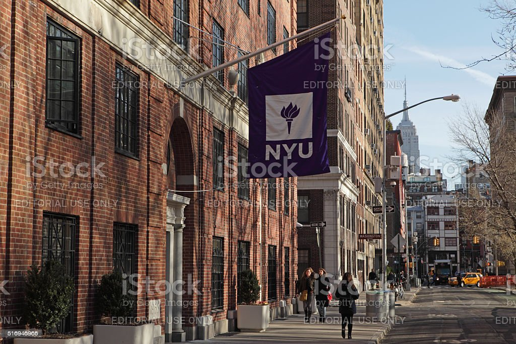 New York University buildings on Washington Square West stock photo