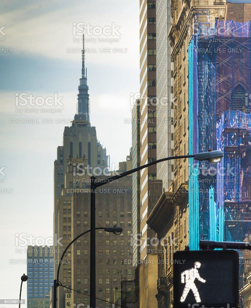 New York urban view stock photo