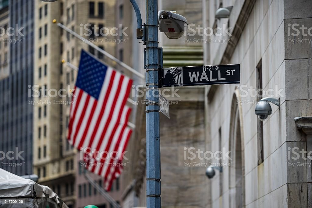 new York, USA - Circa March 2016 - wall street stock photo