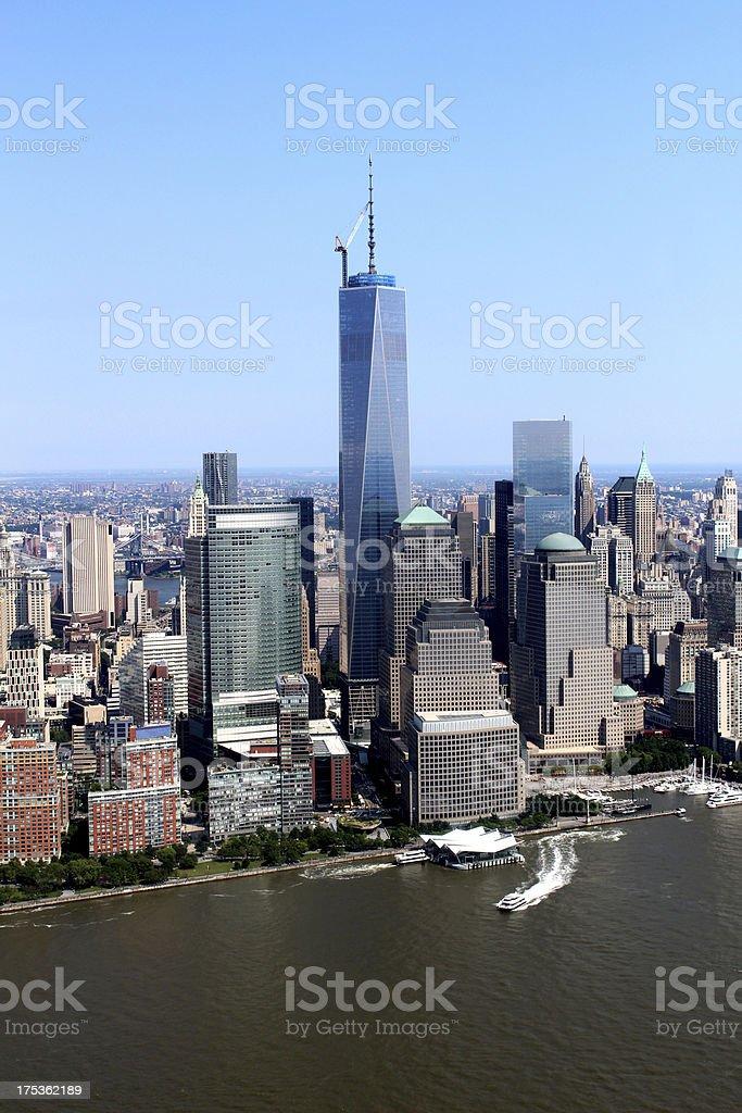 New York, USA: Freedom Tower Skyline stock photo