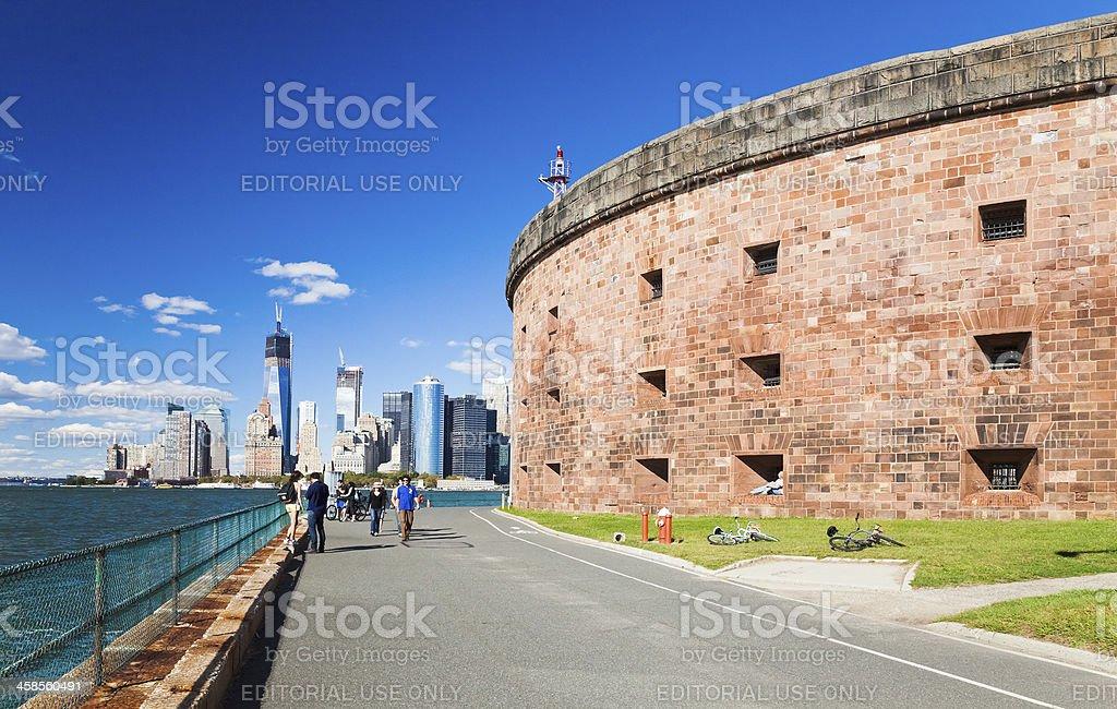 New York, USA-Governors Island stock photo