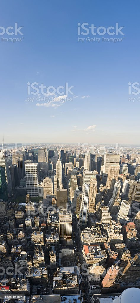 New York vertical blue skies royalty-free stock photo