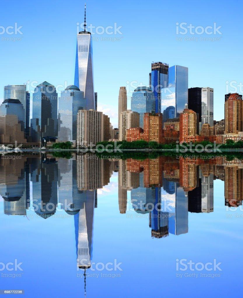 New York view of the Manhattan stock photo