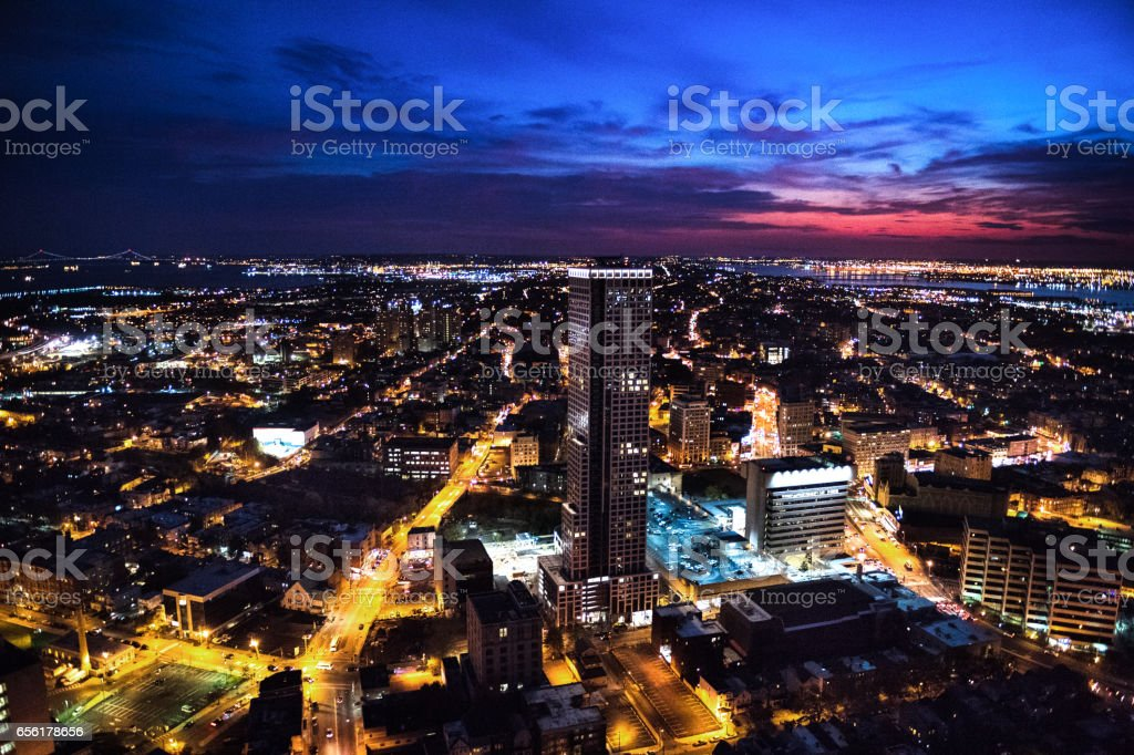 New York viewed from New Jersey stock photo