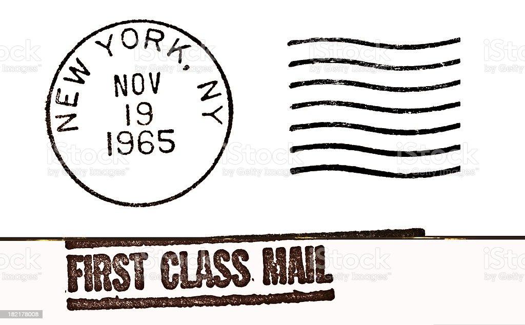 New York Vintage Postmark stock photo