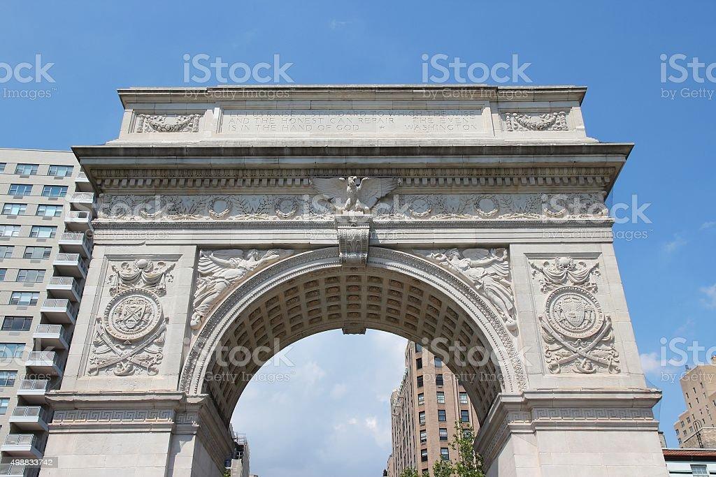 New York - Washington Arch stock photo