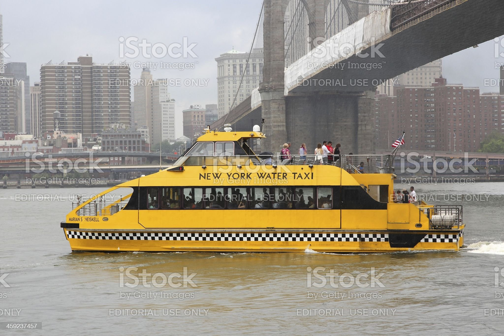 New York Water Taxi royalty-free stock photo