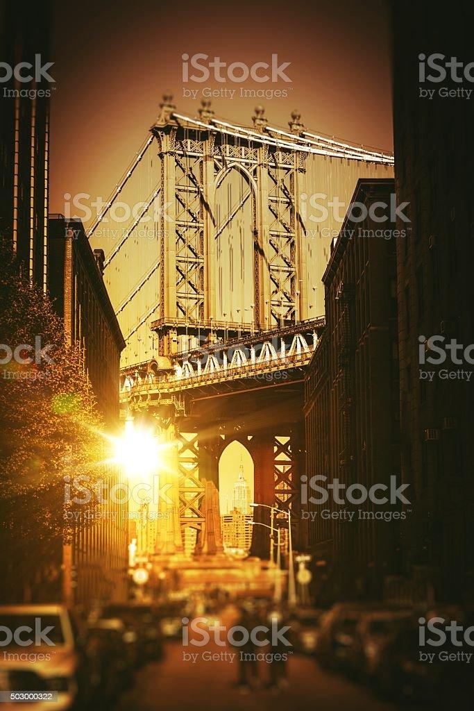 New York Williamsburg Bridge stock photo