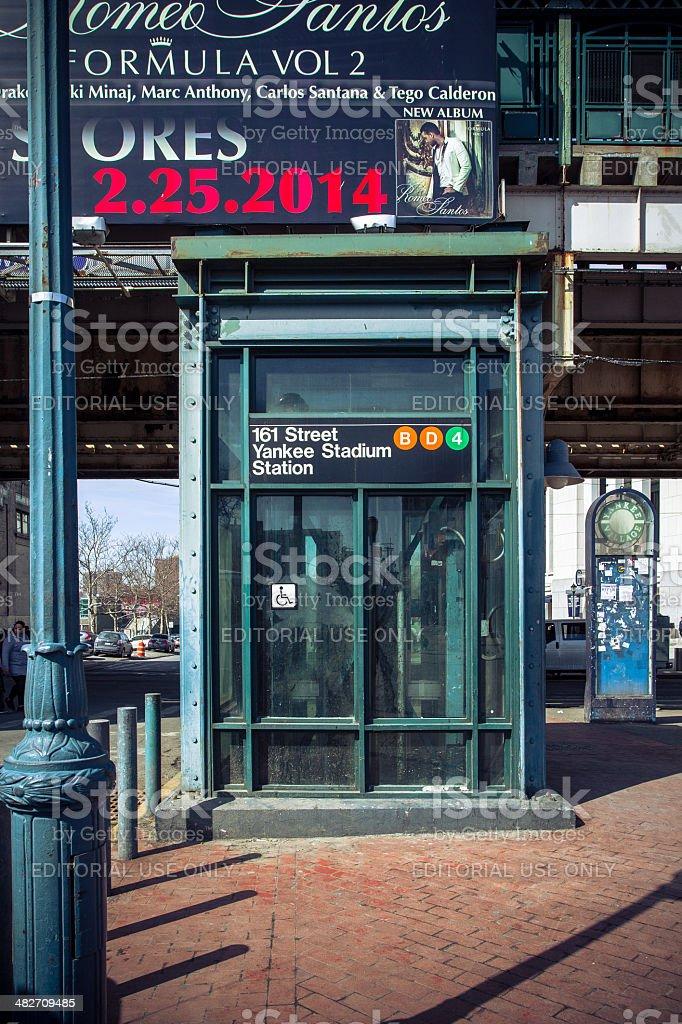 New York Yankees Train Station stock photo