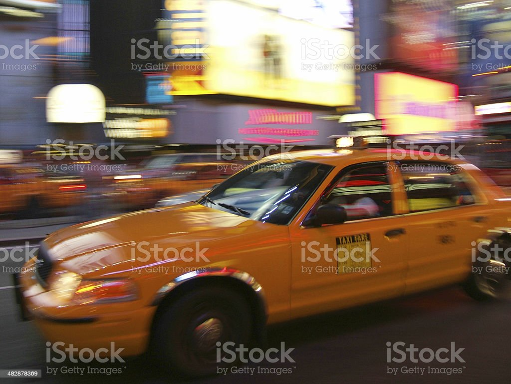 New York Yellow Taxi cab royalty-free stock photo