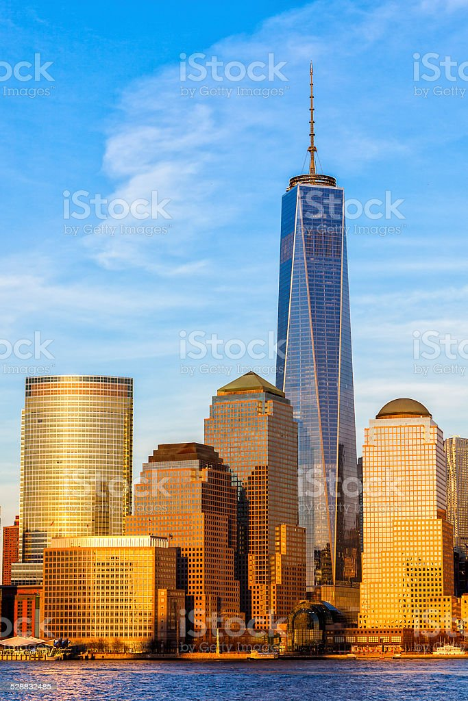 New York's Downtown Financial District stock photo