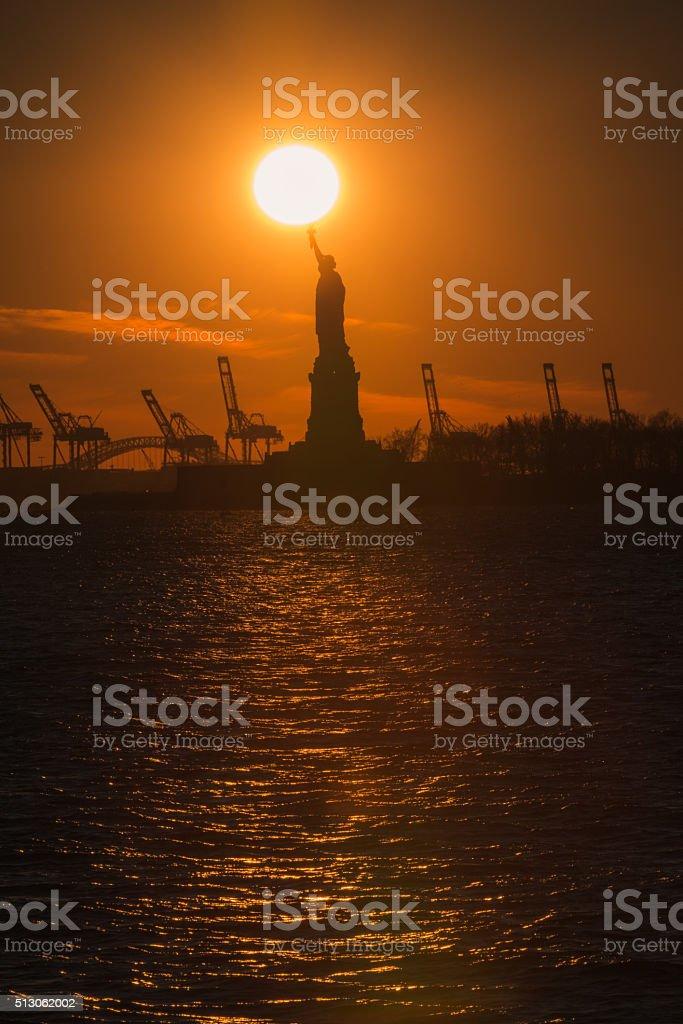 New Yorks Lady Liberty stock photo