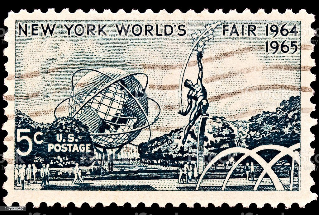 New Yorks Worlds Fair 1964-1965 Issue stock photo