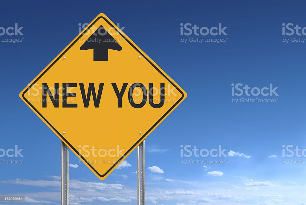 New You Ahead Sign royalty-free stock photo