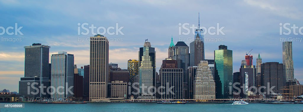 New your city sky line stock photo