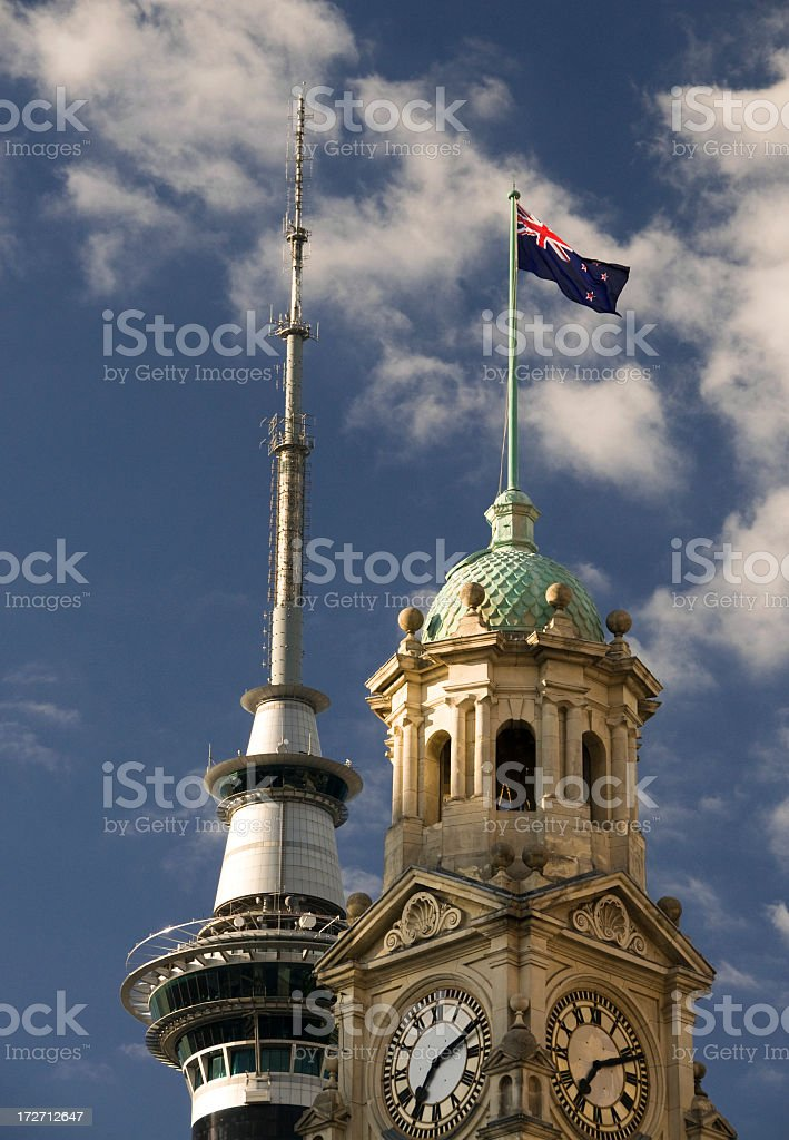 New Zealand: Ancient and Modern royalty-free stock photo