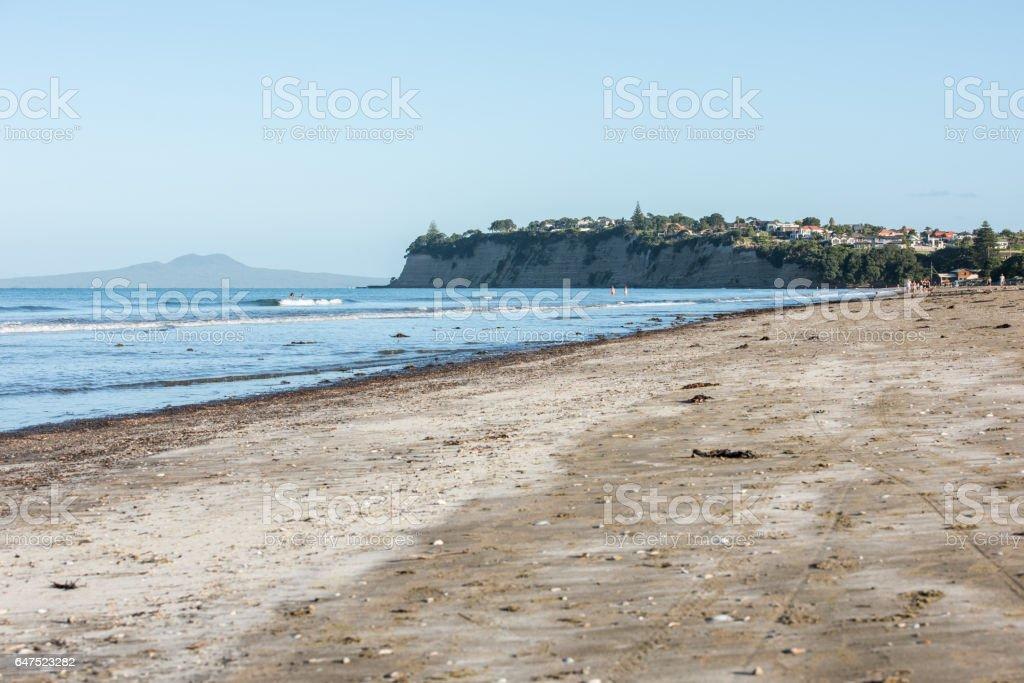 New Zealand Auckland long bay stock photo