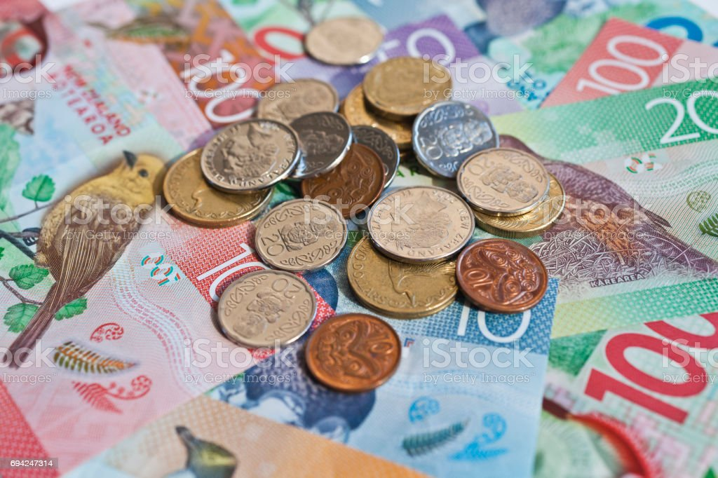 New Zealand cash, money or currency stock photo