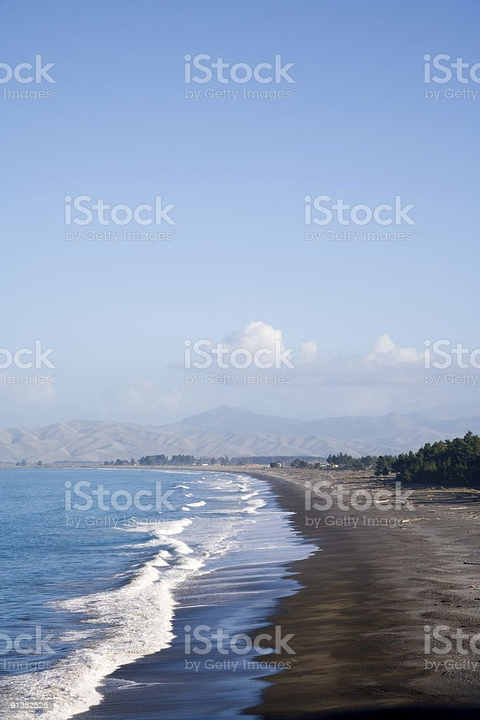 New Zealand Cloudy Bay royalty-free stock photo
