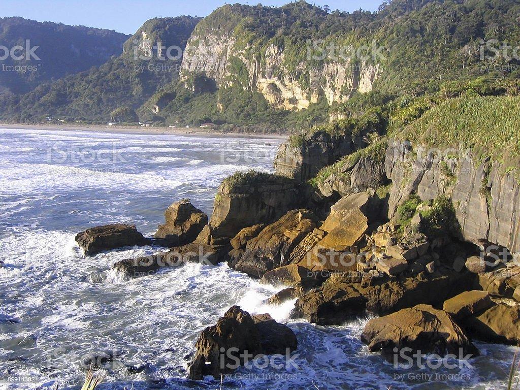 New Zealand Coast Line royalty-free stock photo