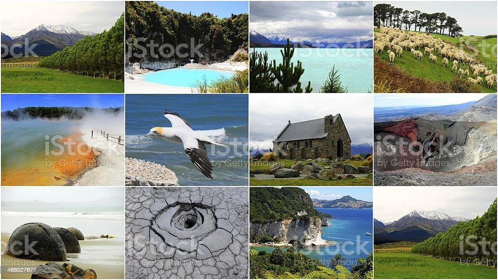 Colagem de Nova Zelândia foto royalty-free