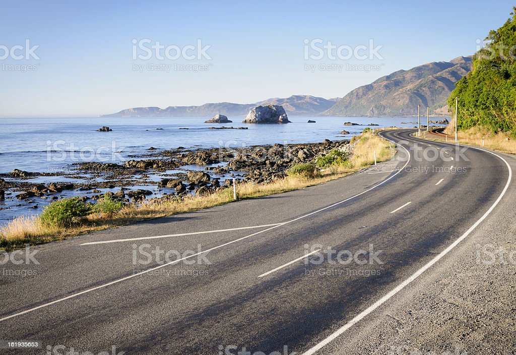New Zealand Country Road stock photo