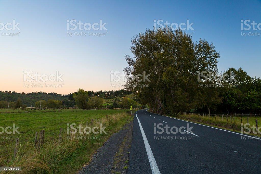 New Zealand countryside stock photo
