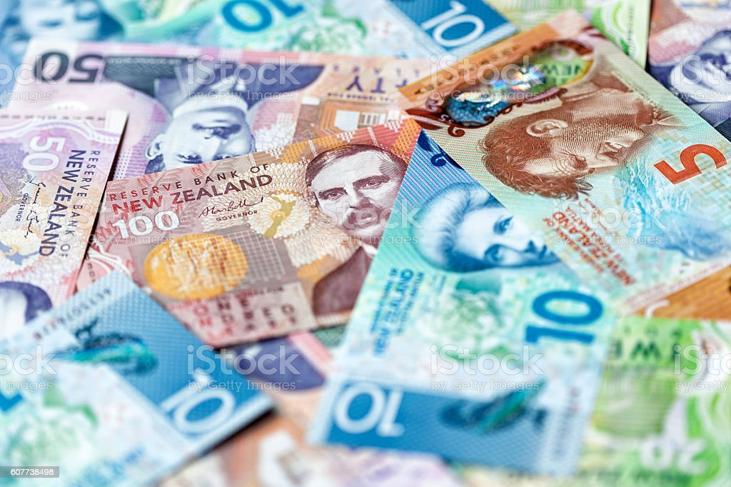 New Zealand Dollar Background stock photo