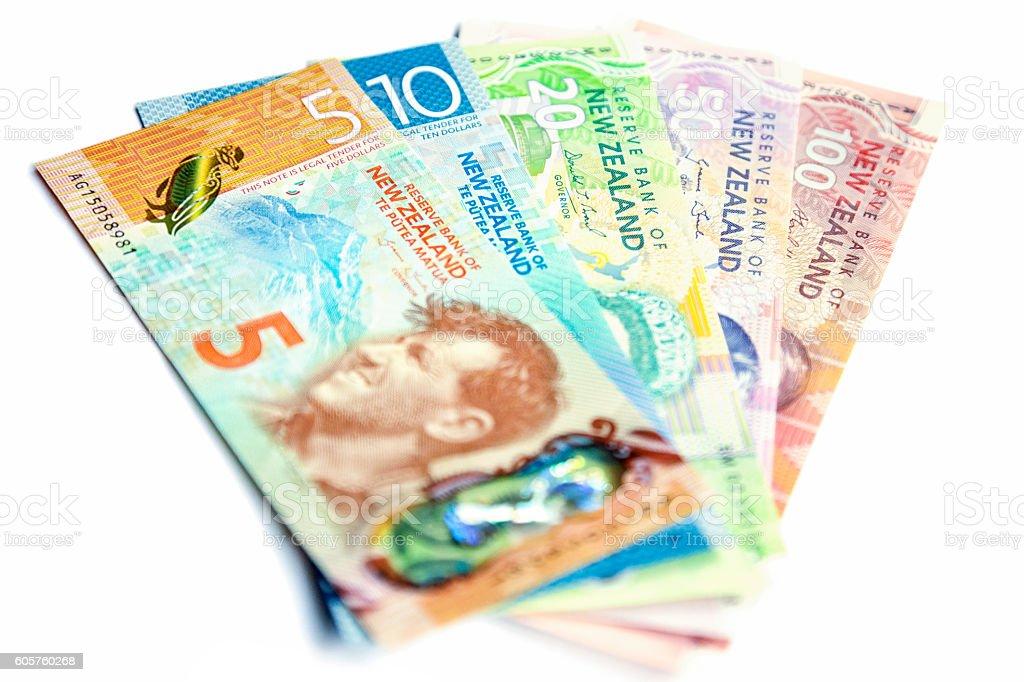 New Zealand Dollars stock photo