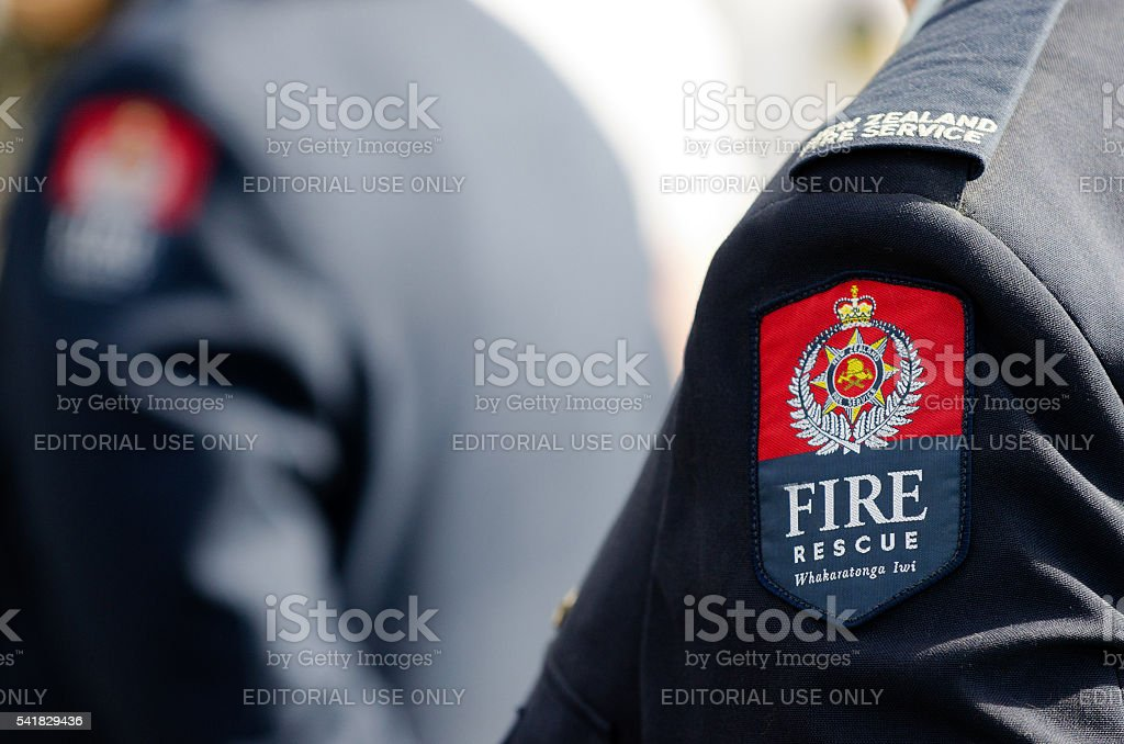 New Zealand Fire Service stock photo