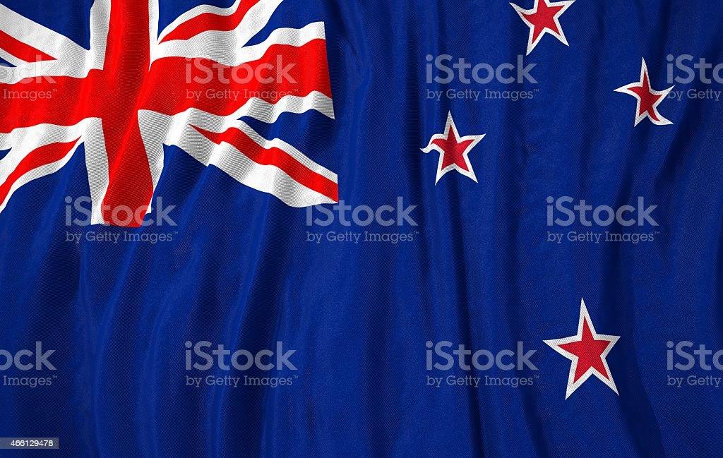 New Zealand flag 3D illustration stock photo