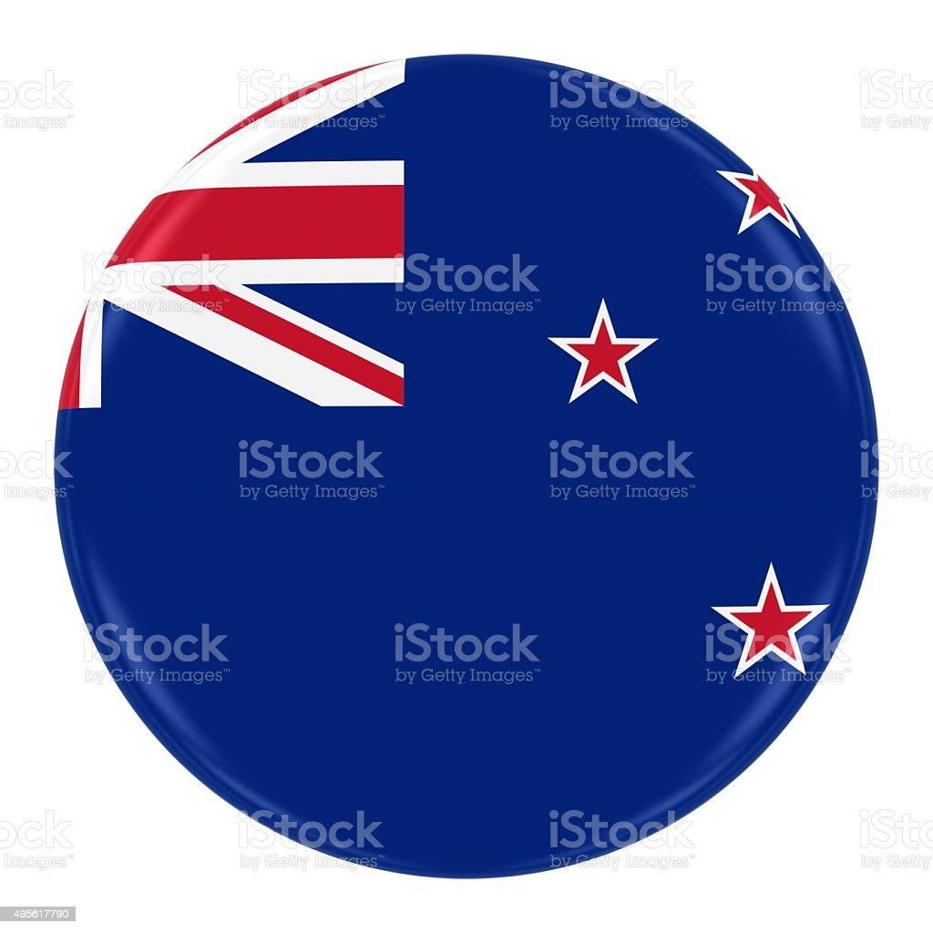 New Zealand Flag Badge stock photo