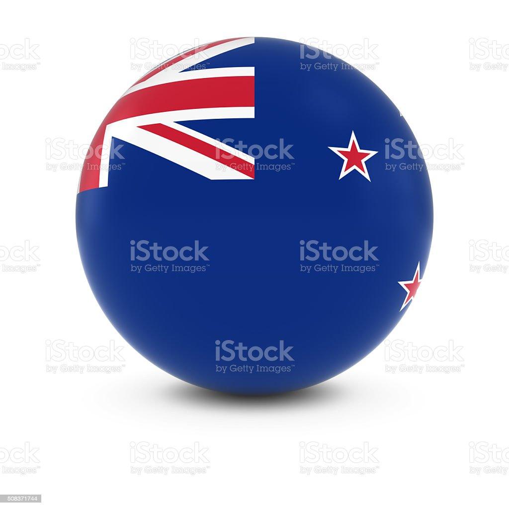 New Zealand Flag Ball - Flag of New Zealand Sphere stock photo