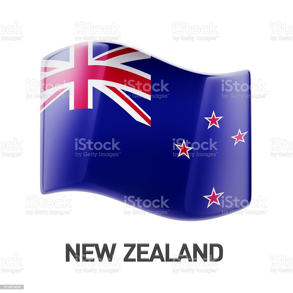 New Zealand Flag Icon stock photo