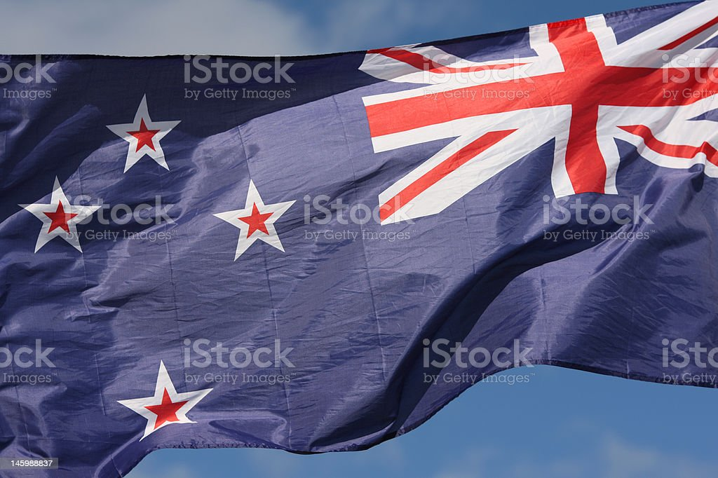 New Zealand Flag royalty-free stock photo