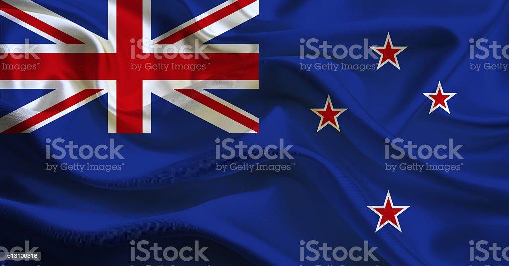 New Zealand flag stock photo