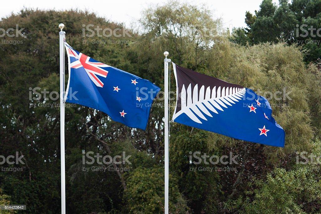 New Zealand Flags stock photo